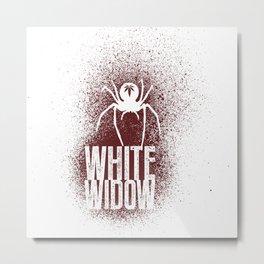 White Widow Metal Print
