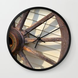 Wheel of a Wagon Wall Clock