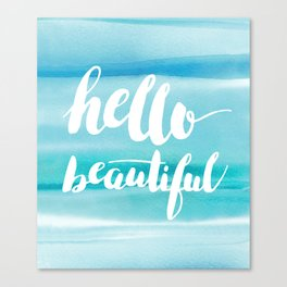 Hello Beautiful Waves Canvas Print