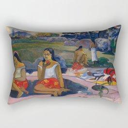 "Paul Gauguin ""Nave Nave Moe - Sacred Spring Sweet Dreams"" Rectangular Pillow"