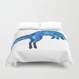 Space Fox | Fox Constellation | Leaping Fox | Double Exposure Fox Duvet Cover