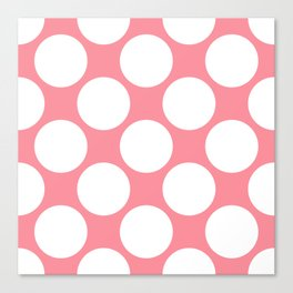 Polka Dots Pink Canvas Print