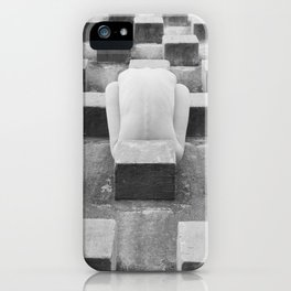 Nude Woman and Concrete Blocks iPhone Case