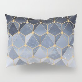 Blue gold hexagonal pattern Pillow Sham