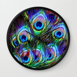 Peacock Feathers - Secret Garden  Wall Clock