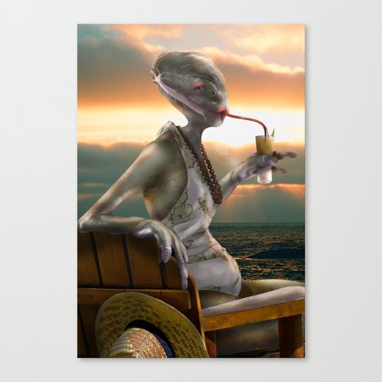Alien Abroad Canvas Print