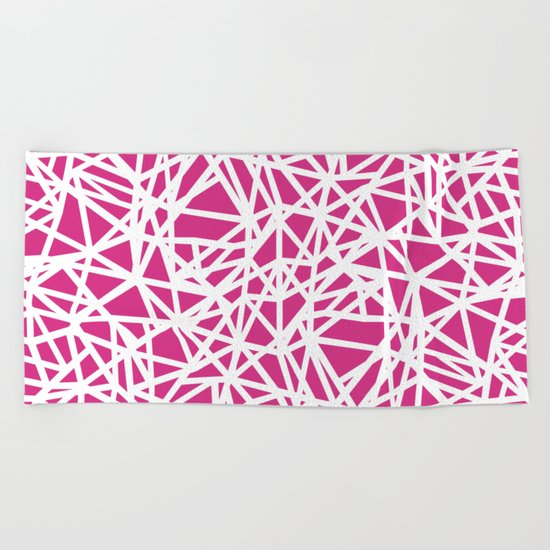 Ab Upside Down Pink Beach Towel