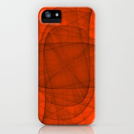 Fractal Eternal Rounded Cross in Red iPhone Case