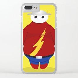 The Flash x Baymax (Flashmax) Clear iPhone Case