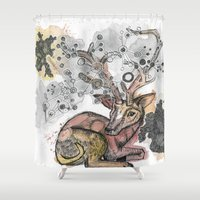 fawn Shower Curtains featuring Fawn by Pfirsichfuchs