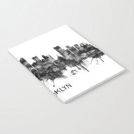 Brooklyn New York Skyline BW Notebook
