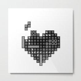 Love for Tetris Metal Print