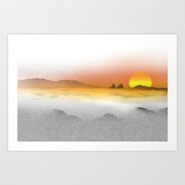 Distant Sunset Art Print