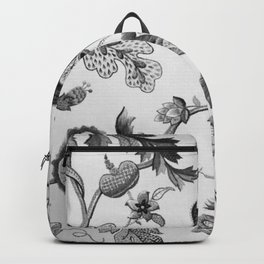 Floral Black and White Backpack