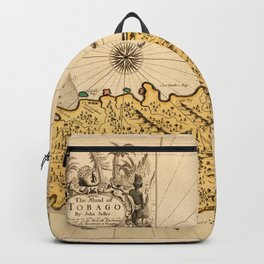 Map Of Tobago 1680 Backpack