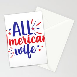 July 4th Memorial Day Labor Day Veterans Day All American Wife Stationery Cards