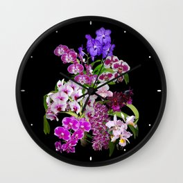 Orchids - Cool colors! Wall Clock