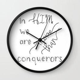 More than Conquerors Wall Clock