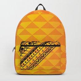 Polynesian Print Backpack
