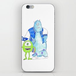 mike and sully from monsters univercity iPhone Skin