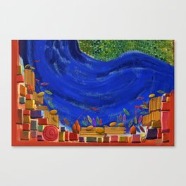 Varanasi oldest city on earth- Abstract view Canvas Print