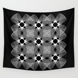 Ah Um Design #002-black Wall Tapestry