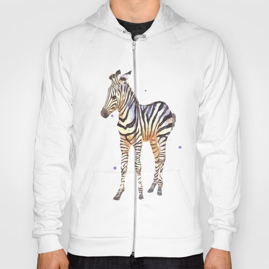 zebra, baby zebra, african wildlife, black and white, stripes, safari art Hoody