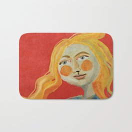 Yellow hair Bath Mat