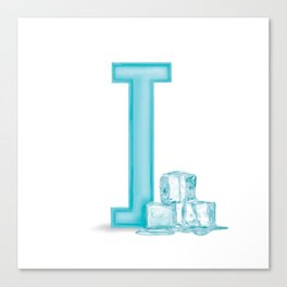 I is for Ice Canvas Print