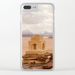 Desert Castle Clear iPhone Case