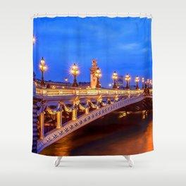Amazing Pont Alexandre III Deck Arch Bridge Across Seine River Champs-Élysées Paris France Ultra HD Shower Curtain