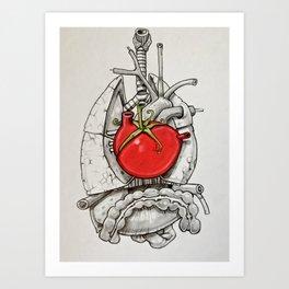 The Beat of The Tomato Art Print