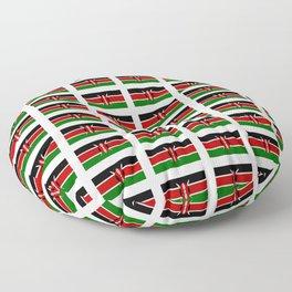 Flag of Kenya -kenyan,kenia,rift valley,serengeti,kilimanjaro,nairobi,mombasa Floor Pillow