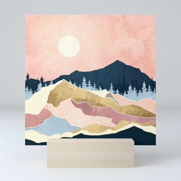 Coral Sunset Mini Art Print