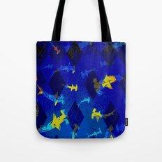 Argyle Frenzy in Lapis Tote Bag