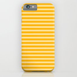 Striped 2 Yellow iPhone Case
