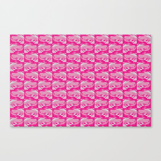 Pink Frog  Canvas Print