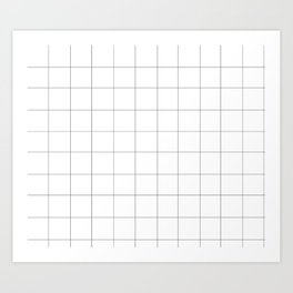 Grid White Art Print