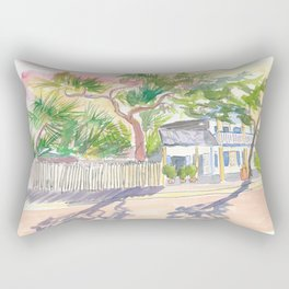 Key West Strolling Around Blue Heaven Thomas St Rectangular Pillow