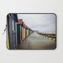 Whitby beach huts Laptop Sleeve