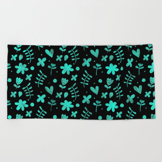 Colorful Lovely Pattern XVII Beach Towel