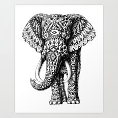 Tribal Elephant Art Print