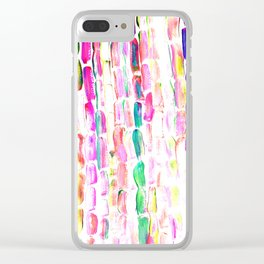 Spring Colorful Sugarcane Clear iPhone Case