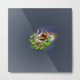Even the sparrow Metal Print