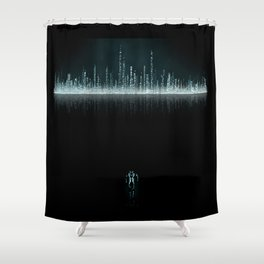 TRON CITY Shower Curtain