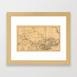 Map Of Canada 1762 Framed Art Print