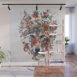 Flower wolf Wall Mural