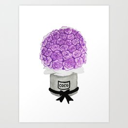 Flower Bucket Art Print