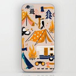 Camping Kit – Orange & Blue iPhone Skin