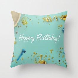 Happy Birthday Party Scene Layflat Throw Pillow